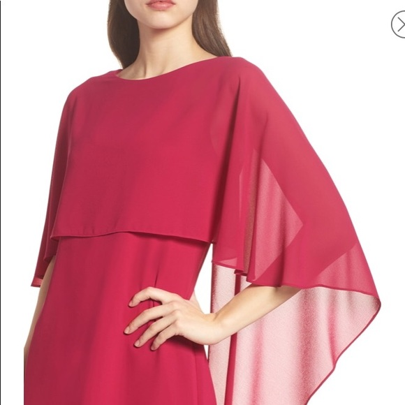 e209ce04fd860 NWT Vince Camuto Cape Overlay Dress Sz 2 😍💋💄